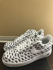 Nike Air Force 1 Low '07 QS All Over Logo Pack White Black AH8462 100 Size 11.5