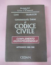 book LIBRO Cian Trabucchi COMMENTARIO BREVE AL CODICE CIVILE giurisprudenza(L42)