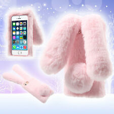 Cute Rabbit Bunny Shape Warm Fur TPU Case Cover for iPhone SE 5S 5 - 5 Colors