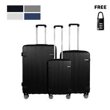 Cabin Suitcase Carry On ABS 4 Spinner Wheels Hard Shell Luggage Lightwheight