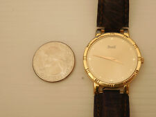 GENUINE PIAGET SOLID 18K YELLOW GOLD DANCER POLO RONDE 31MM MEN'S DRESS WATCH