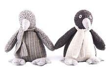 Grey Houndstooth Striped Fabric Penguin Doorstop ~ Designs Vary