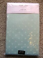Pretty Light Green BELLA LUX SILVER SHIMMER SPARKLE DOTS 60X102 TABLECLOTHOblong