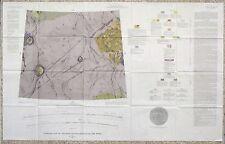USGS APOLLO SELEUCUS REGION LUNAR GEOLOGIC MAP, Vintage 1967, I-527 Scarce