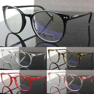 Anti Blue Light Fashion Glasses Oval Lenses Plastic Frame Womens Mens UV400