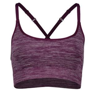 Under Armour Threadborne Ladies Seamless Essentials Low Purple Sports Bra S