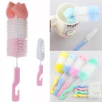 Baby Nipple Brush Bottle Brush 360 Degree Sponge Cleaner With Pacifier Brush New