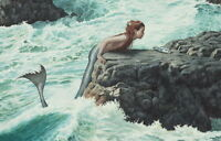 Home Art Wall decor mermaid fantasy oil painting picture Printed on Canvas
