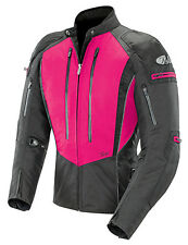 JOE ROCKET ATOMIC 5.0 WOMEN TEXTILE MOTORCYCLE JACKET PINK BLACK LARGE