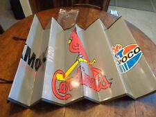VINTAGE CAR SUN SHADE VISOR ST. LOUIS CARDINALS AMOCO GAS KMOX RADIO ADVERTISING
