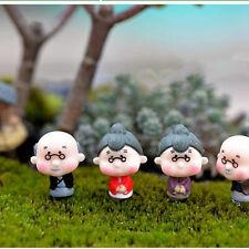 Mini Figurines Miniature Old Granny Grandpa Resin Crafts for Garden Decorations