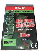 Habistat Reptile Red Night Spotlamp Bayonet Fitting 100W