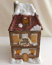 Vintage Willitts Ceramic North Pole Potpourri Tea Light Candle Holder