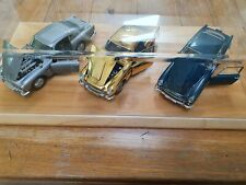 DANBURY MINT ASTON MARTIN DB5 X3 CARS GOLD/SILVER/ AEGEAN BLUE MODELS