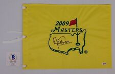 ANGEL CABRERA AUTOGRAPHED MASTER'S FLAG Beckett Authenticated B46498
