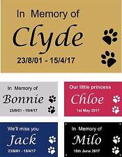 Personalised Pet Memorial Plaque Dog Cat Animal Engraved 9.5 x 6 cm Your wording