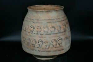 Authentic Large Ancient Indus Valley Harappan Pottery Jar Circa 3000 BCE