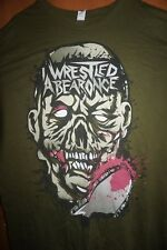 "Iwrestledabearonce XL TS ""RARE"" green Cephalic Carnage,Obscura,White Chapel,Vile"