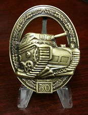 WWII WW2 German Panzer Tank assault badge medal award for 50 engagements
