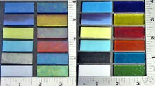 "12 -MIXED COLOR 1/2"" x 1 1/2"" 3mm BULLSEYE GLASS 90 COE TESTED COMPATIBLE FUSING"