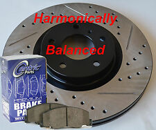 Fits FX35 FX45 D/S Rotors Ceramic Pads Harmonically Balanced Design Front