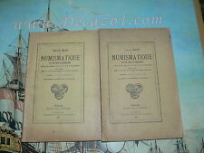 Revue Belge Numismatique 1923 2 V.1/2 +3/4 livraisons. Original Edition! Rare!