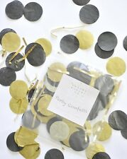Black and Gold Party Graduation Throw Confetti Handmade Decorations