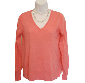 Banana Republic Merino Wool Sweater Size S 4 6 Pink Extra Fine Gauge V-Neck