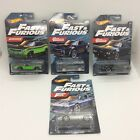 2021 Hot Wheels Fast and Furious 4 Cars Corvette Challenger Ice Charger Plymouth