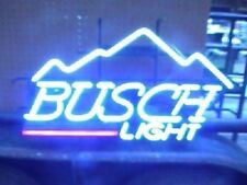 "New Busch Beer Light Mountain Real Glass Neon Sign 17""x14"""