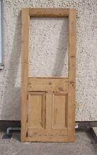 "31"" 1/2 x 79"" Victorian half Glazed old period pine house Door MP~855"