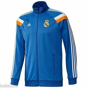 Adidas REAL MADRID spain Track jersey jacket CLIMALITE soccer Sweat shirt~Mens M