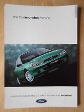 FORD MONDEO VERONA 2000 UK Mkt sales leaflet brochure