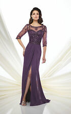NEW MONTAGE Mon Cheri 117D61 Formal Evening PURPLE GOWN Size 18 Mother of Bride