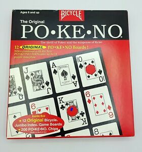The Original PO-KE-NO Pokeno Board Card Game from Bicycle Vintage New Never Used