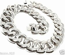 VINTAGE STYLE TAXCO MEXICAN 925 STERLING SILVER SHELL CHAIN LINK NECKLACE MEXICO