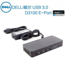 Dell D3100 USB 3.0 UHD 4K Triple Video Port Replicator Docking Station