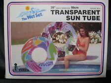 "Vintage 90's 1993 INTEX Transparent Sun Tube 39"" Round Swim Pool Tube #58213 NEW"