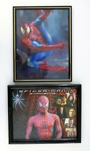 "SPIDER-MAN PICTURE FRAMES Vintage 8 1/2""x11"" Fair Prize Photo Lot of 2 '95 & '02"
