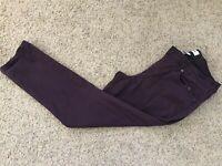 Sonoma Purple Women's Skinny Ankle Pants Size 14 Inseam 27
