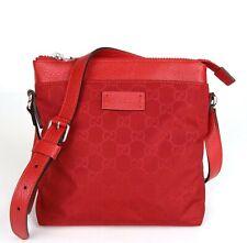 Gucci Red Guccissima Nylon Small Messenger Crossbody Bag 510339 6523