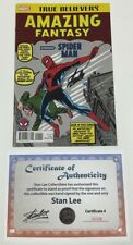 Marvel True Believers Amazing Fantasy #15 Reprint Signed by Stan Lee w/Coa