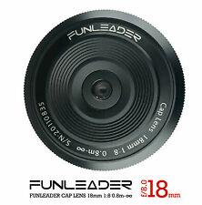Funleader CapLens 18mm f8.0 Wide angle lens Pancake Cap Lens For E TL Mount