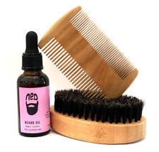 NED Lavender Beard Oil with The Best Beard brush & Beard comb set Mens Gift Idea