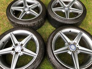 Mercedes C43 Wheels AMG W205 W204 C220D A C CLASS AMG 18 inch Alloys 5x112