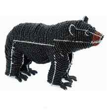 BEADWORX - BLACK BEAR - WILD ANIMAL - HAND CRAFTED ~ BEAD WORK - BEADED GIFT