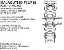 SERIE STERZO COMPLETA BUZZETTI MALAGUTI F12 PHANTOM 50, F15 FIREFOX 50