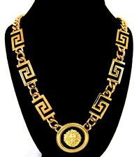 1 1/2 inch Goldtone LION Head Necklace Urban Glam-Celebrity Inspired-24 inches