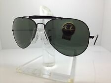 New Ray Ban Sunglasses RB 3030 58MM OUTDORSMAN I PADDLE TEMPLE  BLACK/GREY LENS