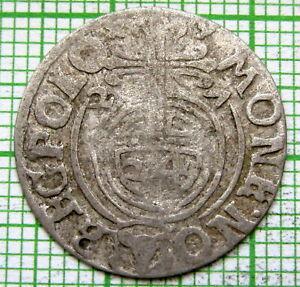 MEDIEVAL EUROPE POLAND LITHUANIA SIGISMUND III 1627 1-1/2 GROSZ POLTORAK, SILVER